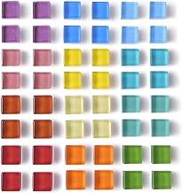 Paquete de 48 imanes de nevera de vidrio para nevera, imanes de color decorativos, para oficina, taquilla, para pizarrón b...