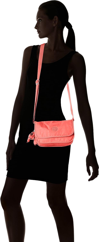 Kipling Louiza, Sacs bandoulière mode femme Rose (Pink Coral)