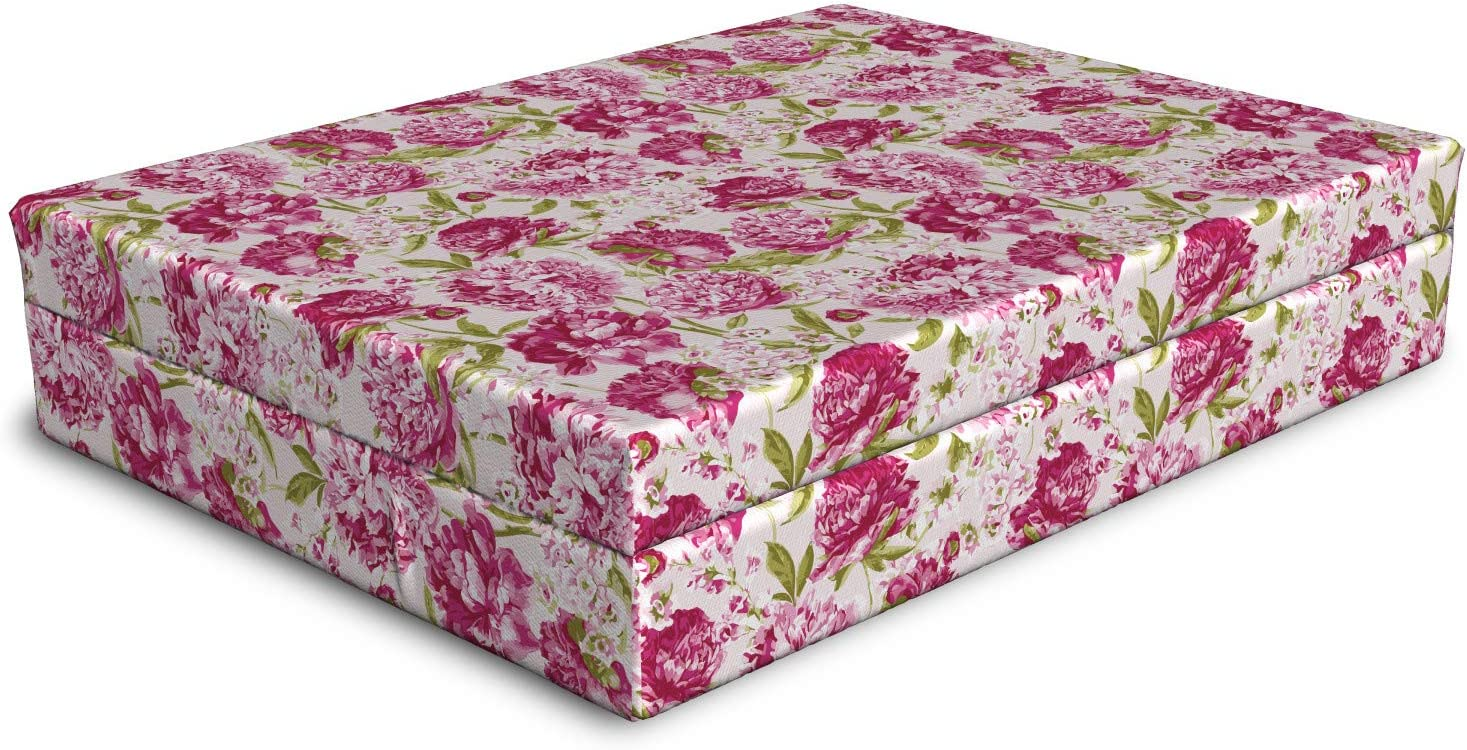 Ambesonne Flowers Dog Bed Under blast sales Floral Pink Vintage and All items free shipping Peonies Theme