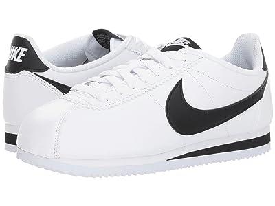 Nike Classic Cortez Leather (White/Black/White) Women