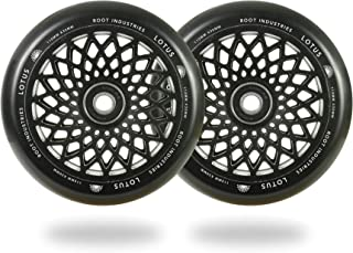 Lotus Pro Scooter Wheels 110mm Pair - Wide Scooter Wheels - Freestyle Urethane - Fits Most Setups - 30mm x 110mm - Bearings Included - 90 Day Warranty - 110mm Scooter Wheels - Scooter Parts