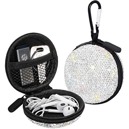 Earbud case,Headphone case,Earphone organiser,Earbud keychain,Bird trail oilcloth