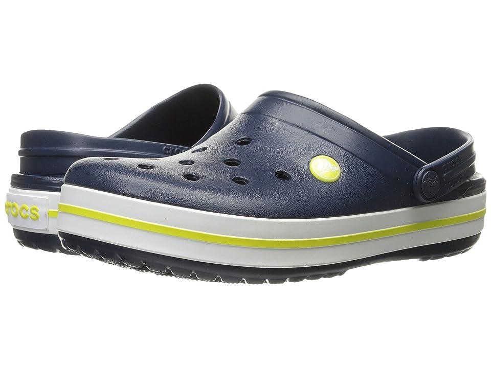 Crocs Crocband Clog (Navy/Citrus) Clog Shoes