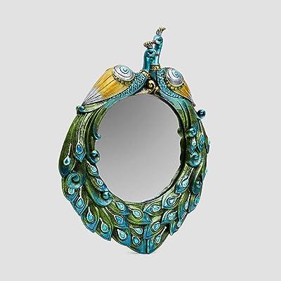 Home Centre Mayur-Mayil Decorative Peacock Accent Mirror 29.5 x 2.5 x 37.5 cm