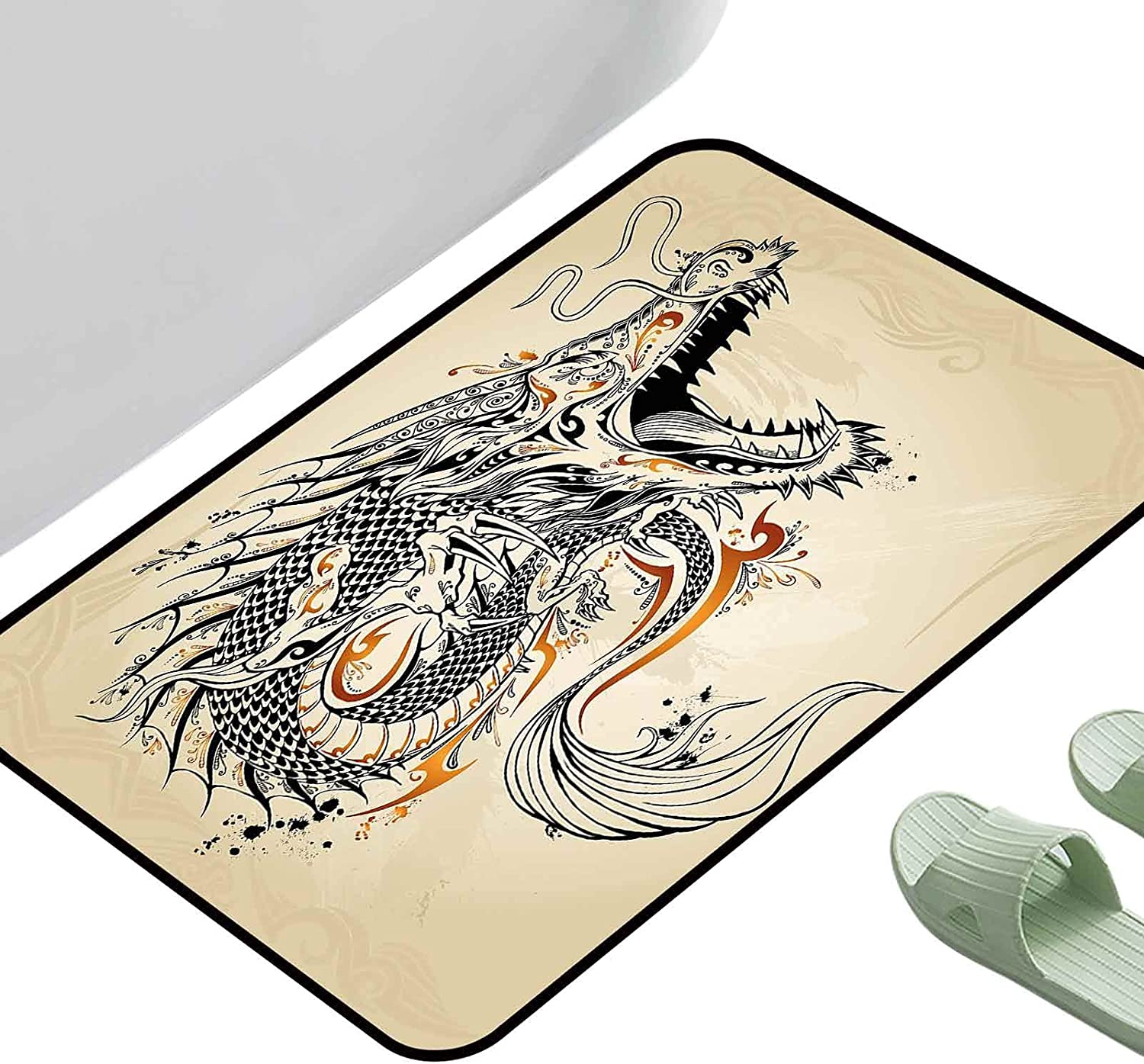 Anti-Slip Coffee Our shop OFFers the best Portland Mall service Table Floor Mats Japanese Dragon Style R Doodle