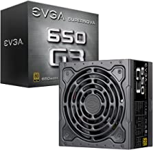 EVGA 220-G3-0650-Y1 SuperNOVA 650 G3, 80 Plus Gold 650W, Fully Modular, Eco Mode with New HDB Fan, 7 Year Warranty, Includ...
