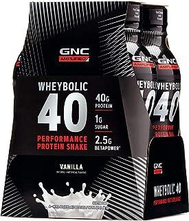Sponsored Ad - GNC AMP Wheybolic 40 - Vanilla, 4 Bottles, Meal Replacement Shake