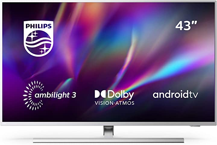 Tv 43 pollici philips ambilight 4k uhd tv led(processorep5 perfect picture hdr10+dolbyvision atmos android tv 43PUS8505/12