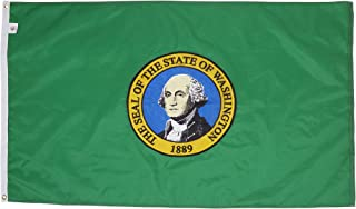 Allied Flag - 4' x 6' Outdoor Nylon Washington State Flag - Made in USA - Vivid Color and Fade Resistant - Reinforced Hem and Brass Grommets