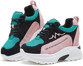 BOYATU Hidden Wedge Sneakers Breathable Walking Shoes Platform Shoes for Women