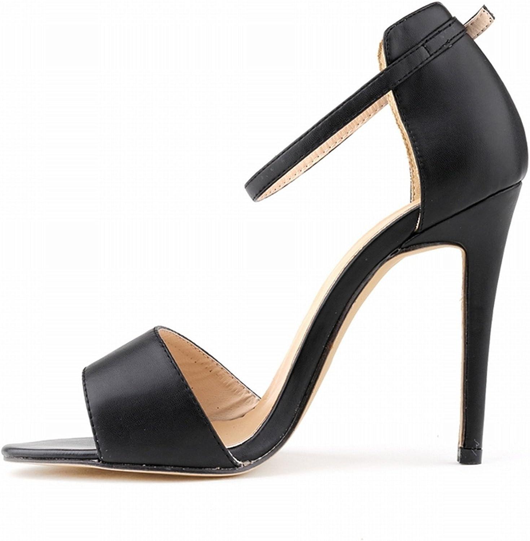 Robert Westbrook Womens Sandals Open Toe Ankle Straps High Heels Summer Pumps Femininos Sandalias 102-2Ma Black 5