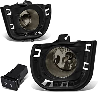 For Scion tC AGT20 Pair of Bumper Driving Fog Lights + Bezel + Wiring Kit + Switch (Smoked Lens)