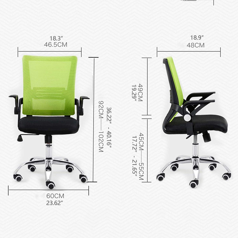 WGFGXQ Chaise de Bureau d'ordinateur, siège Rotatif élévateur Ergonomique, siège de Direction inclinable pour Le Bureau, capacité de Charge nominale: 400 LB (Couleur: Rouge) Green