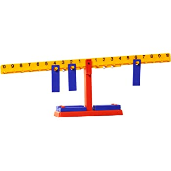 Educational Insights Number Balance, Ages 5 and Up, (21 Pieces - 20 Balance Weights and Scale)