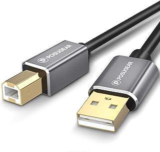 [3M] Cable para Lmpresora 3 Meters, POSUGEAR Cable USB 2.0 de Tipo A Macho a Tipo B Macho Conector para Escáner, Fotografí...