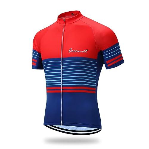 96b0941a1 Coconut Ropamo Mens Short Sleeve Cycling Jersey Mountain Bike MTB Shirt  Biking Cycle Tops Racing