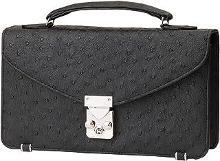 セカンドバッグ メンズ エキゾチックレザーデザイン 2in1 財布一体型バッグ 【2025】