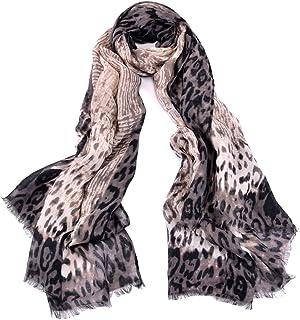 Scarfs for Women Ladies Lightweight Floral Animal Print Leopard Zebra Fashion Scarves Wrap Shawl