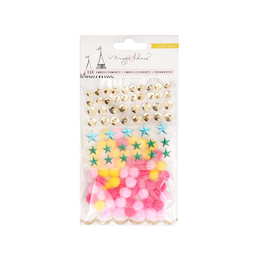 American Crafts Maggie Holmes Carousel 113 Piece Embellishment Pack