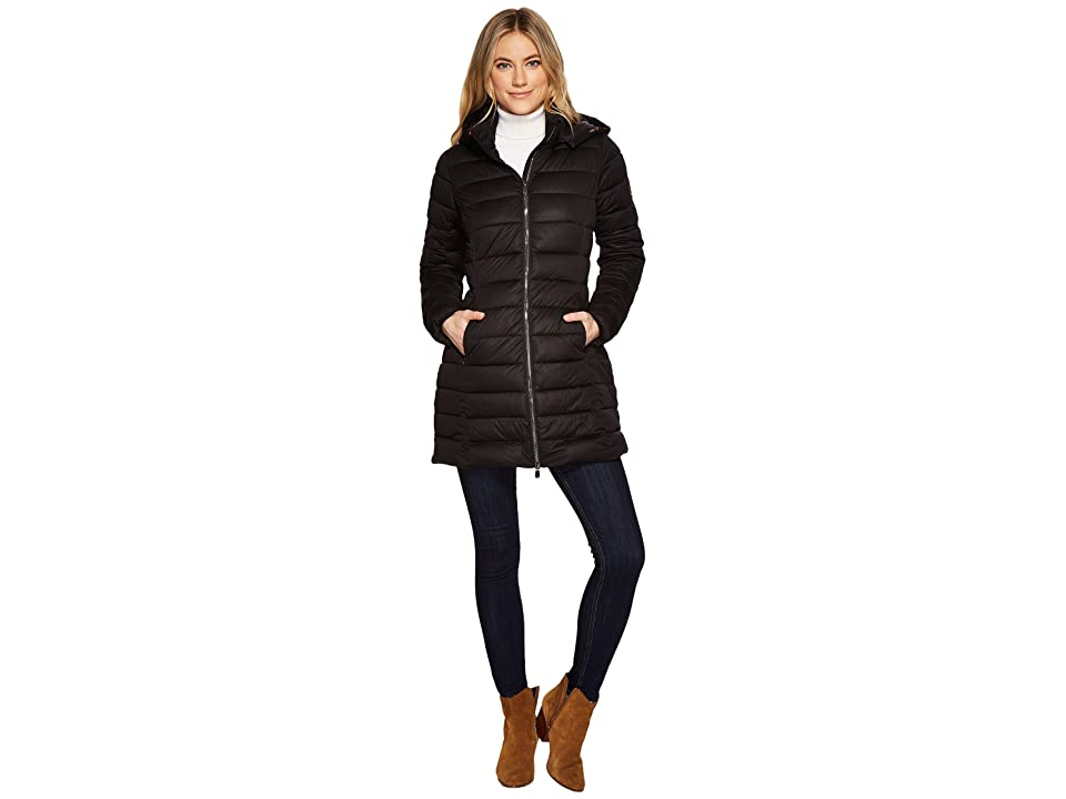 Save the Duck Long Stretch Coat (Black) Women