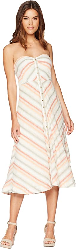 Free People Striking Striped Midi Dress