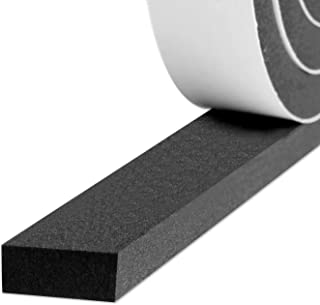 Weatherstrip Adhesive, Foam Insulation Tape High Density Soundproofing Insulation Seal Strip Door Weather Stripping 3/4 Inch Wide X 5/16 Inch Thick X 13 Feet Long(6.5ft x 2 Rolls)