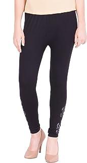 American-Elm Women's Cotton Viscose Net Legging- Black