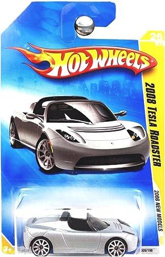 marca HOT WHEELS 2008 NEW MODELS MODELS MODELS plata 2008 TESLA ROADSTER 26 OF 40  026 196  alta calidad general