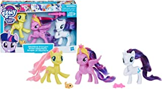My Little Pony Toy Twilight Sparkle, Rarity & Fluttershy 3-Pack, Intro to Friendship is Magic, Ages 3 and Up