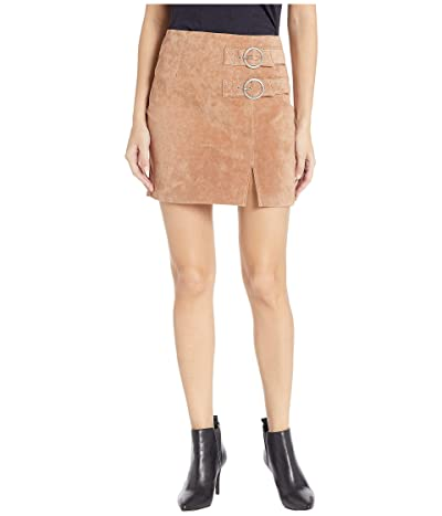 Blank NYC Suede Skirt with Double Buckle in Hazelnut (Hazelnut) Women