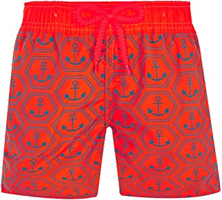 Vilebrequin - Boys - Swimwear Ultra-Light and Packable Ancre de Chine Fluo