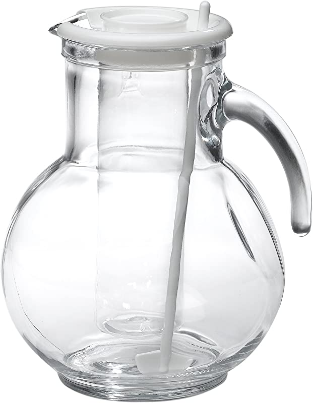 Bormioli Rocco Kufra Glass Pitcher With Ice Container And Lid 72 3 4 Oz
