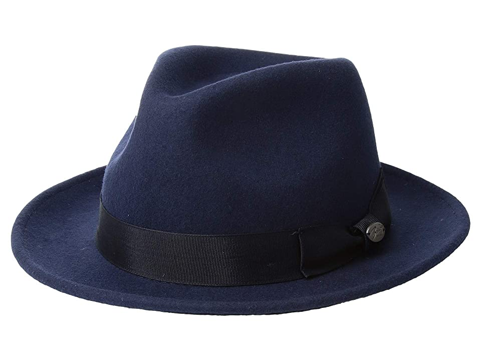 1940s Mens Hat Styles and History Bailey of Hollywood Maglor Navy Caps $55.00 AT vintagedancer.com