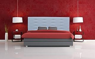 ONEK-DECCO Cabecero tapizado en Polipiel de Dormitorio Mod.Florida Medidas cabecero de Cama niño, Juvenil y Matrimonio Cabezal Blanco, tapizado, Acolchado (150x70, Morado)