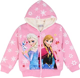 PCLOUD Girls' Frozen Thick Plush Hoodies for Winter Sweatshirt