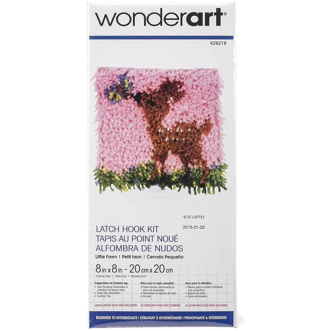 Wonderart Little Fawn Latch Hook Kit, 8