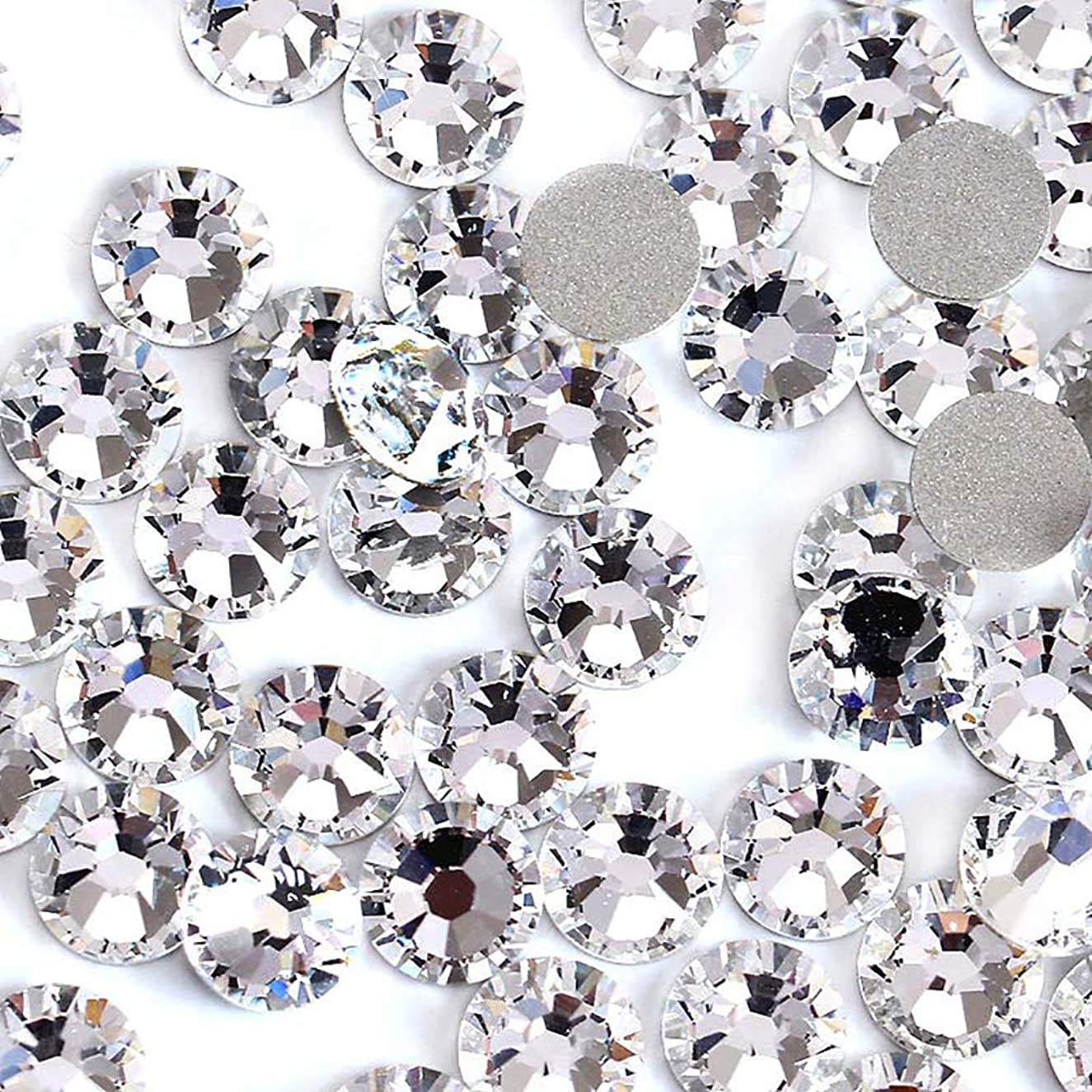 2880pcs/bag Flatback Gemstones And Crystals Clear Craft Rhinestones Nail Art Czech White crystal Decorations For Nails Art Rhinestones For Clothes (ss3)