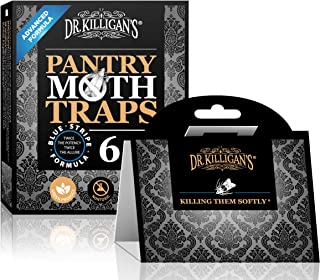 Dr. Killigan's Premium Pantry Moth Traps with Pheromones Prime | Safe, Non-Toxic with No Insecticides | Sticky Glue Trap f...
