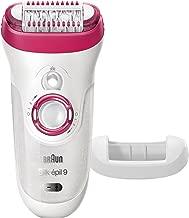Braun Silk-épil 9 9-521 Women's Epilator, Electric Hair Removal, Cordless, Wet & Dry, White/Pink (Packaging May Vary)