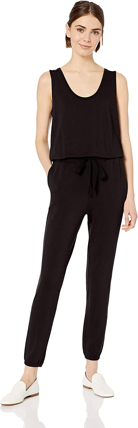 Amazon Brand - Daily Ritual Women's Supersoft Terry Sleeveless Jumpsuit