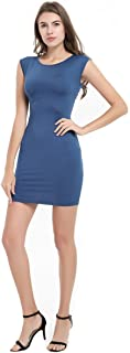 Women Sleeveless Bodycon Mini Pencil Dress Business Party Club