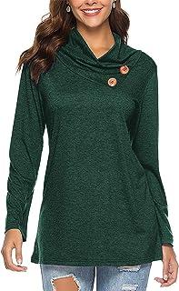 504cdf2e49a Luranee Women's Tops Casual Long Sleeve Cowl Neck Loose Tunic Sweatshirt  Blouse