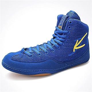 WJFGGXHK Men's Boxing Shoes, Boy's Wrestling Boots Rubber Sole Indoor Multisport Shoes for Women Children Teenage