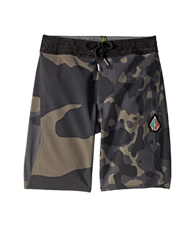 Volcom Kids Combo Boardshorts (Big Kids) (Black) Boy