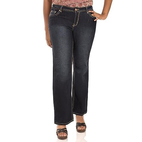 382559d1cab WallFlower Women s Juniors Plus Size Basic Legendary Stretch Bootcut Denim  Jeans