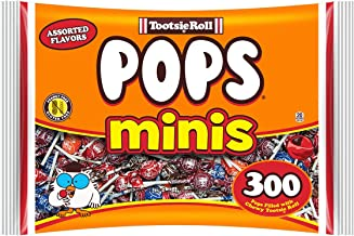Tootsie PopsMiniswith Chocolatey Center, Assorted Flavors, 300 CountBag,Peanut Free, Gluten Free
