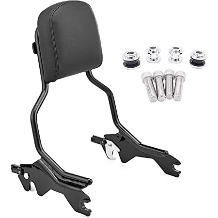 WeiSen Glossy Black Triple Plating Quick-Detachable Passenger Backrest Sissy Bar w//Pad & Rear Sport Luggage Rack Compatible with 2018-UP Harley Softail Fat Bob FXFB FXFBS