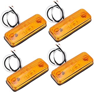 LAS 10146 Arancio colore Luce laterale a LED con supporto e sistema di aggancio rapido