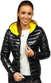 BOLF Mujer Chaqueta de Entretiempo Acolchada con Capucha Cierre de Cremallera Plumas Ropa de Abrigo Estilo Deportivo Mix D4D