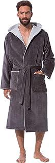 Morgenstern Accappatoio da Uomo con Cappuccio Puro Cotone Vestaglia Lunga S-XXL